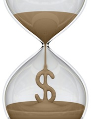 Time is money hour glass money
