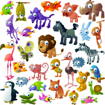 Vivid_cartoon_animals_vector_524507